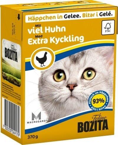 Bozita Cat Tetra Recard Häppchen in Gelee mit viel Huhn 370g