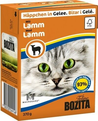 Bozita Cat Tetra Recard Häppchen in Gelee Lamm 370g