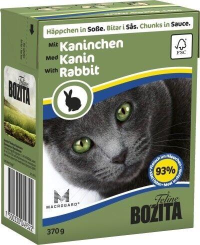 Bozita Cat Tetra Recard Häppchen in Soße Kaninchen 370g