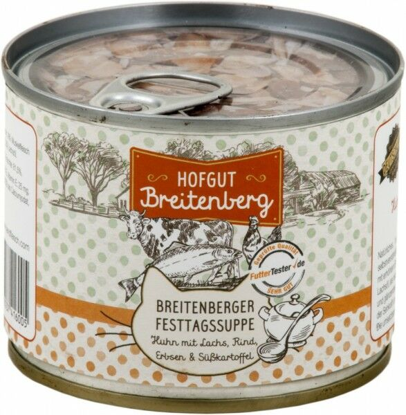 Hofgut Breitenberg Cat Breitenberger Festtagssuppe Huhn 180g