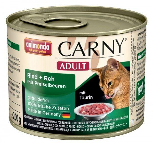 Animonda Cat Dose Carny Adult Rind & Reh & Preiselbeeren 200g