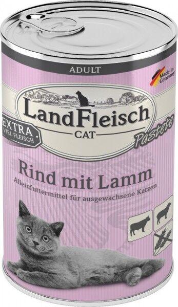 LandFleisch Cat Adult Pastete mit Rind+Lamm 400 g