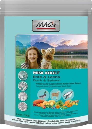 MACs Dog Mini Adult Ente, Lamm & Lachs - 750 g Frischebeutel