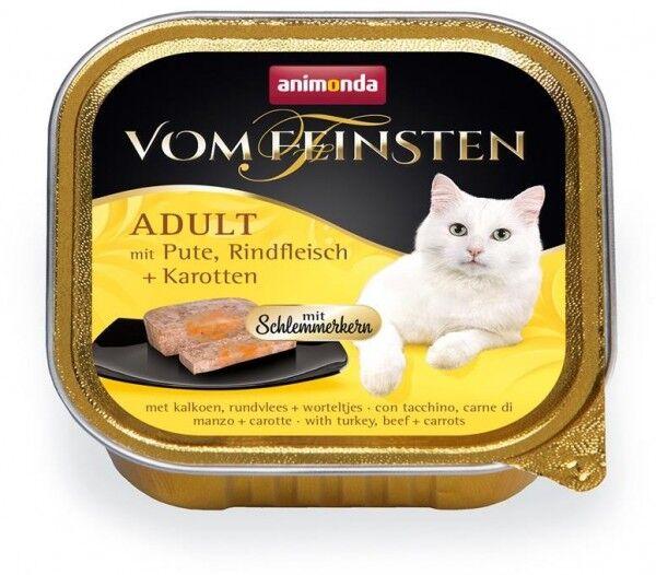 Animonda Cat Vom Feinsten mit Schlemmerkern mit Pute, Rindfleisch & Karotten 100