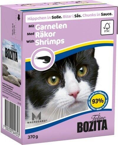 Bozita Cat Tetra Recard Häppchen in Soße Garnelen 370g