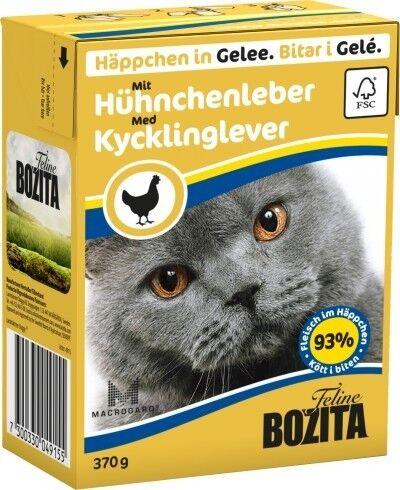 Bozita Cat Tetra Recard Häppchen in Gelee Hühnchenleber 370g