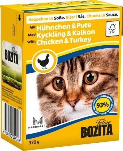 Bozita Cat Tetra Recard Häppchen in Soße Huhn & Pute 370g