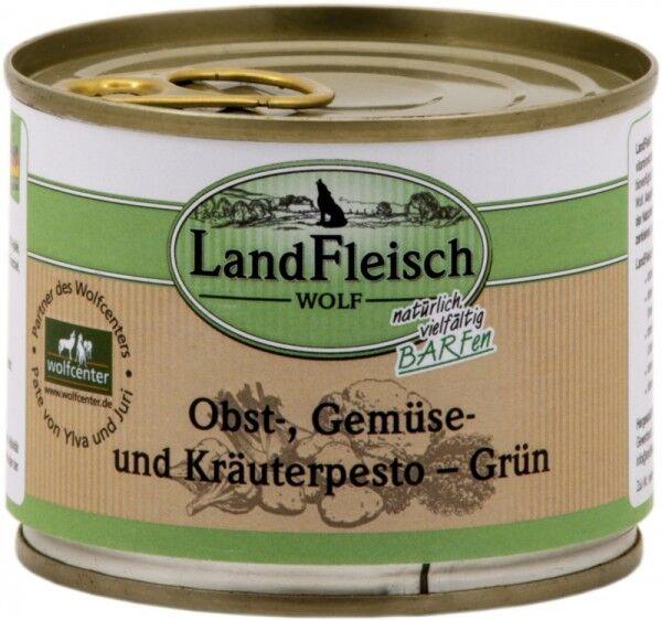 LandFleisch Hunde Dose Wolf Obst-, Gemüse und Kräuterpesto Grün 200g