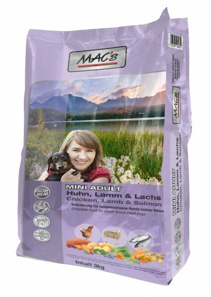 MACs Dog Mini Adult Huhn, Lamm & Lachs -3 kg Beutel