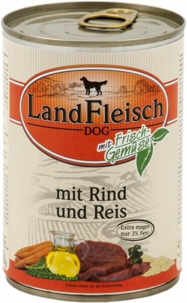 Landfleisch Dog Pur Rind&Reis extra mager 400g
