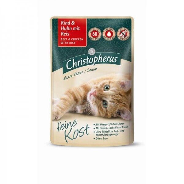 Christopherus Katze Pouch Senior - Rind + Huhn mi