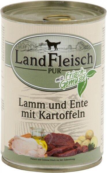 LandFleisch Hunde Dose Pur Lamm & Ente & Kartoffe