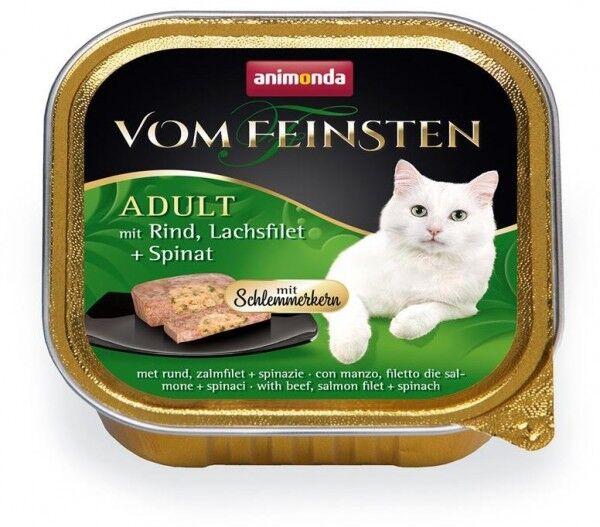 Animonda vom Feinsten mit Schlemmerkern mit Rind, Lachsfilet & Spinat - 100g Schale