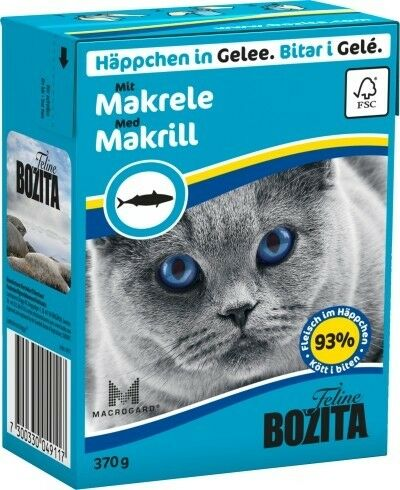 Bozita Cat Tetra Recard Häppchen in Gelee Makrele 370g