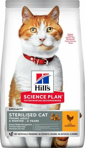 Hills Science Plan Katze Young Adult Sterilised Cat Huhn