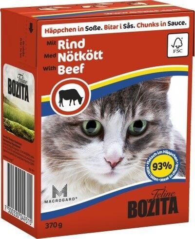 Bozita Cat Tetra Recard Häppchen in Soße Rind 370g