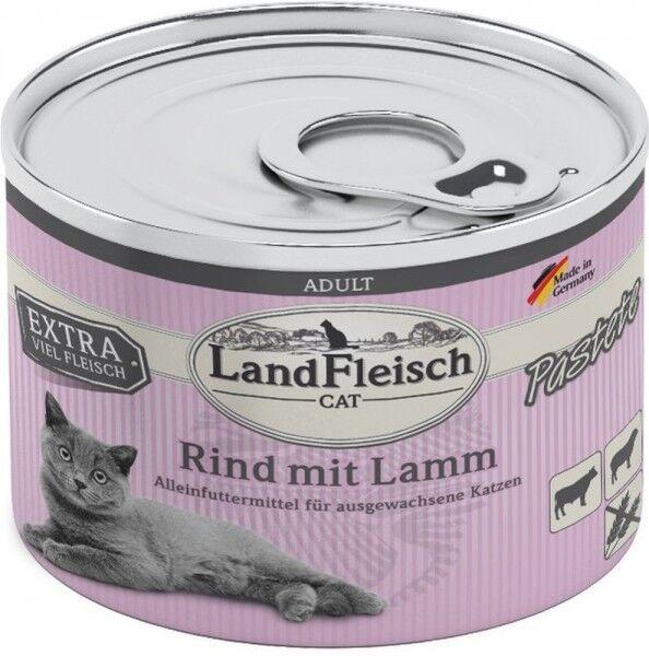 LandFleisch Cat Adult Pastete Rind+Lamm 195g