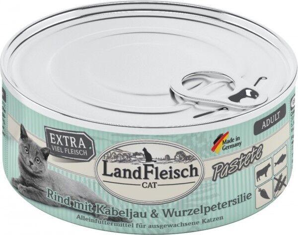 LandFleisch Cat Adult Pastete Rind+Kabeljau+Wurzelpetersi