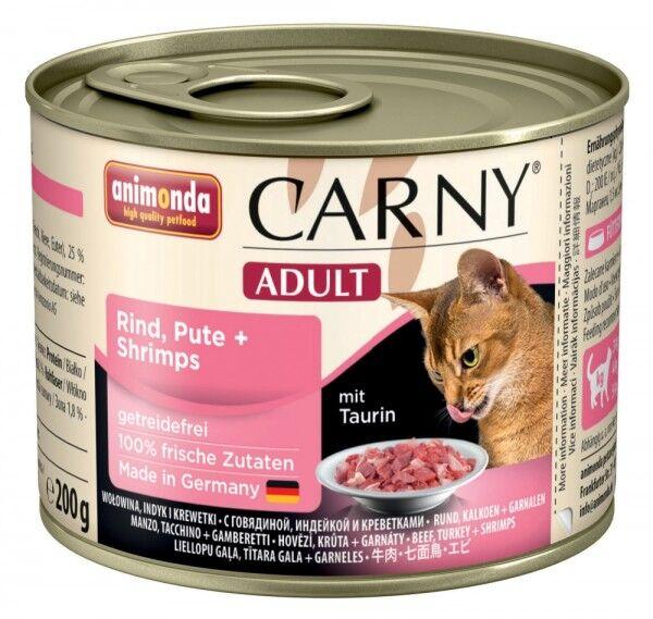 Animonda Cat Dose Carny Adult Rind & Pute & Shrimps 200g