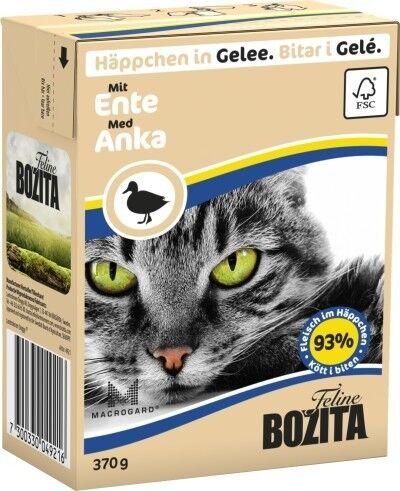 Bozita Cat Tetra Recard Häppchen in Gelee Ente 370g