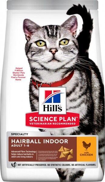 Hills Science Plan Katze Adult Hairball Indoor Huhn 10kg