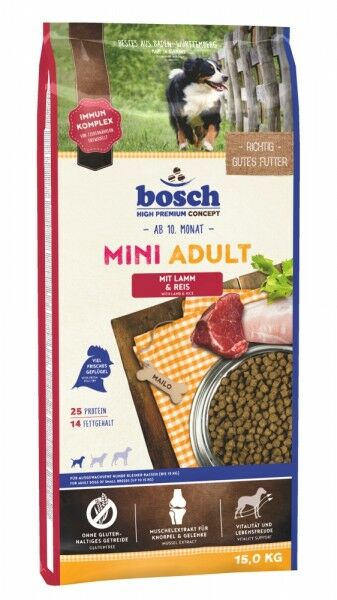 Bosch Mini Adult Lamm & Reis 15 kg
