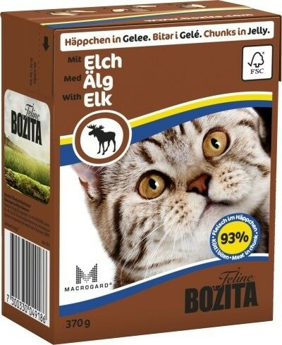 Bozita Cat Tetra Recard Häppchen in Gelee Elch 370g