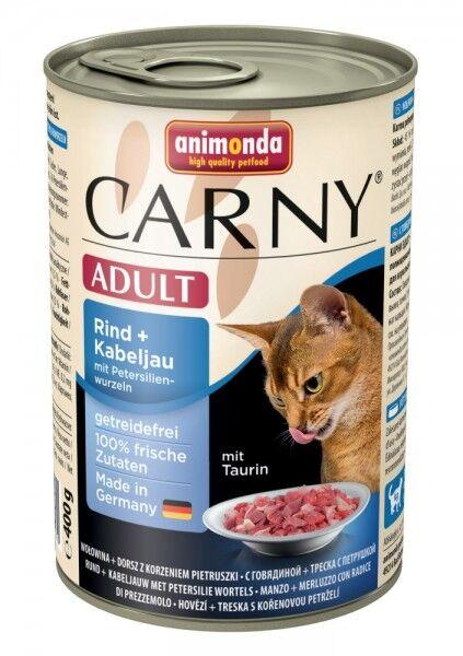 Animonda Carny Adult Rind & Kabeljau & Petersilienwurzeln - 400g Dose